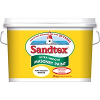Sandtex Microseal Ultra Smooth Masonry Pure Brilliant White - 10 Litre