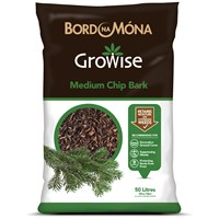 Bord na Móna Growise Medium Chip Bark - 50 Litre