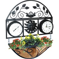 Kingfisher  Traditional Clock & Thermometer Wall Planter