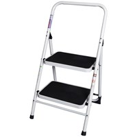 Faithfull  Folding 2-Step Ladder with Guard Rail