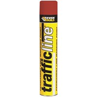 Everbuild  Trafficline Paint 700ml - Red