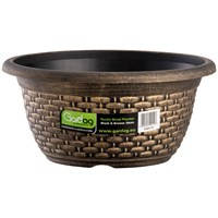 Gardag  Rustic Black & Bronze Bowl Planter - 30cm