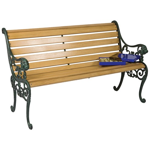 Mercer Donard 12-Slat Lion Head Garden Bench