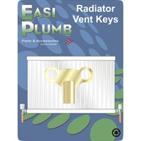Easi Heat  Brass Clock Radiator Vent Key
