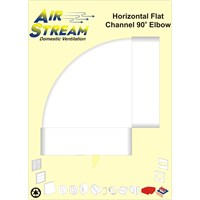 Airstream  90° Horizontal Flat Channel Elbow