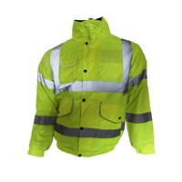 Bodyworks  Hi Vis Bomber Jacket - Yellow