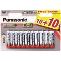 Panasonic  Everyday Power AA Batteries 10 Pack + 10 FREE